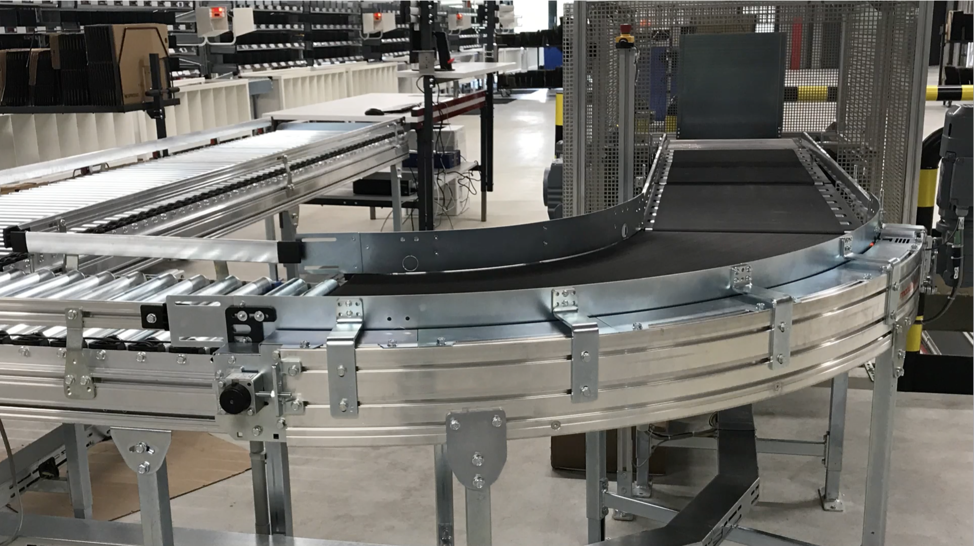 curved belt conveyor parcel solution